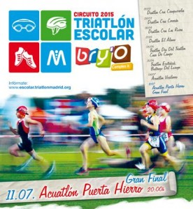 Ranking escolar madrileño de triatlón, tras 6 pruebas.