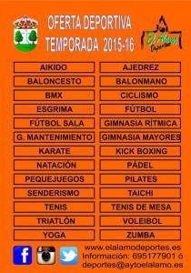 Oferta Deportiva 2015/2016